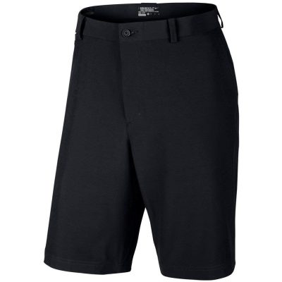 Woven black golf shorts by Nike